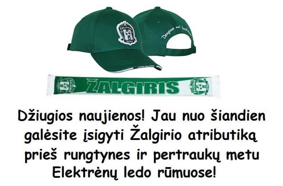 """Vilniaus """"Žalgirio"""" atributika"""