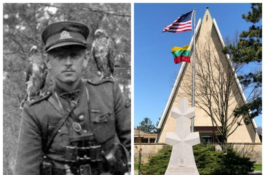 Čikagoje atidengtas paminklas Adolfui Ramanauskui-Vanagui