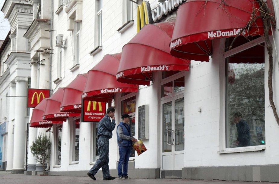 Uždarytas McDonald's restoranas Simferopolyje
