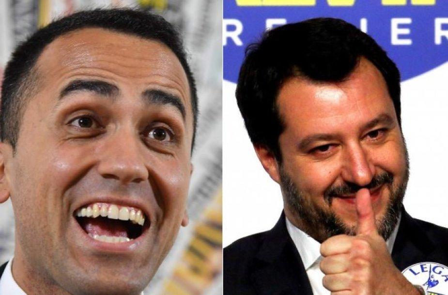 Luigi Di Maio ir Matteo Salvini