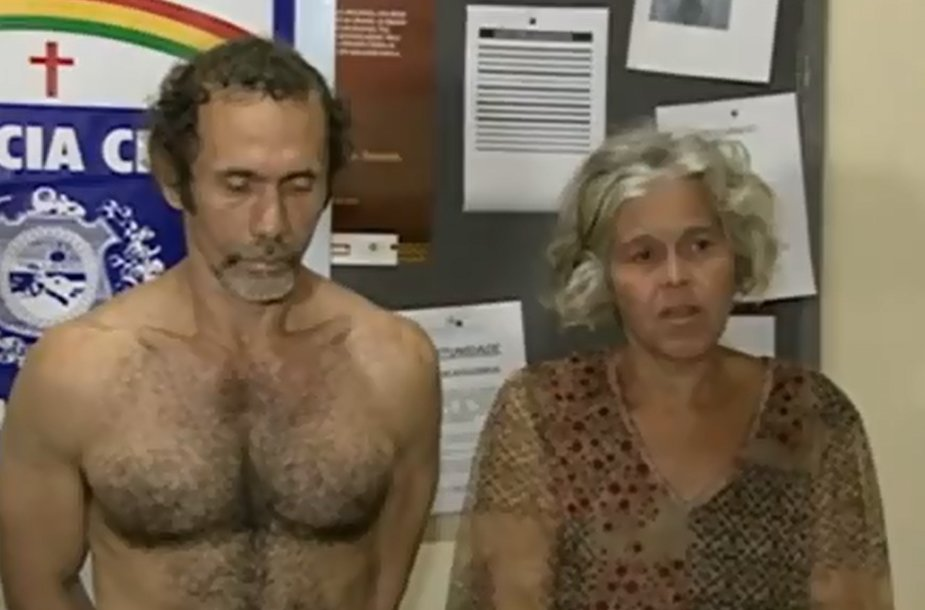 Brazilijoje suimti kanibalai Jorge'as Beltrao Negromonte ir Elizabeth Pires da Silveira