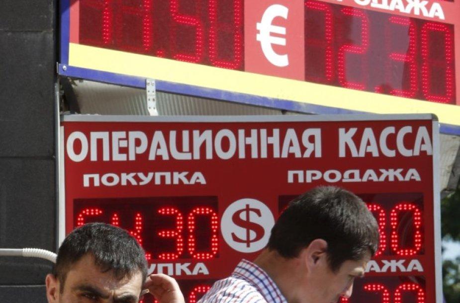Rugpjūčio 12 diena. Rusijos rublis pasiekė žemiausią per pusę metų kursą