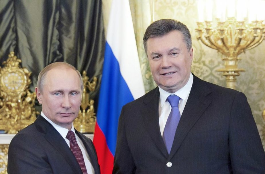 Rusijos prezidentas Vladimiras Putinas ir Ukrainos prezidentas Viktoras Janukovyčius