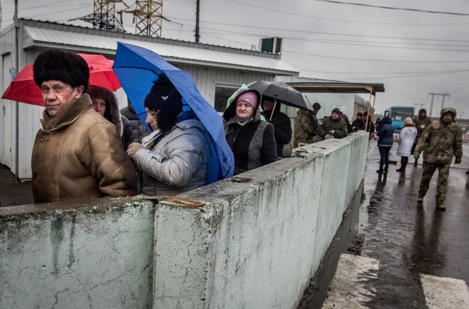 DNR ir Ukrainos administracinės linijos kirtimo punktas