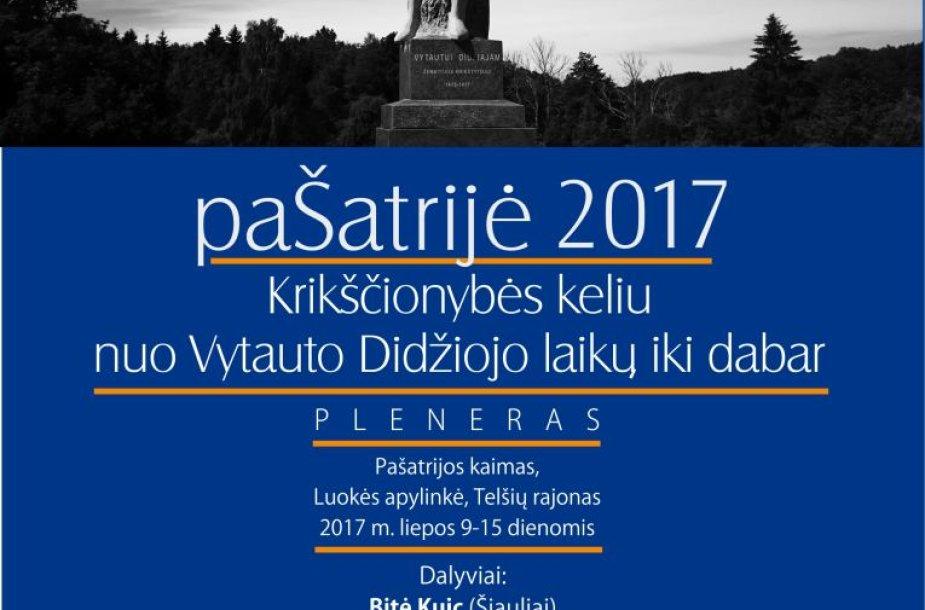 """Nuo šių metų liepos 9 dienos prasidės ir savaitę truks dailininkų pleneras """"paŠatrijė-2017""""."""