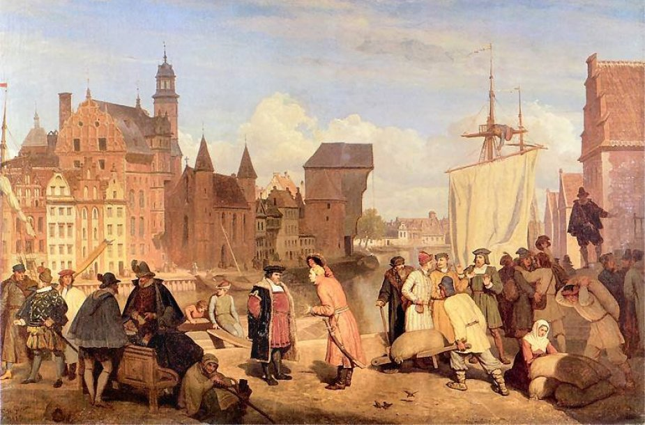 Wojciecho Gersono paveiksle: XVII amžiaus Dancigo pirkliai