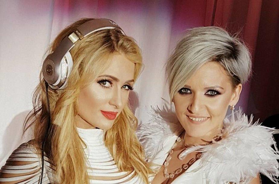Paris Hilton ir Dovilė Žilinskaitė