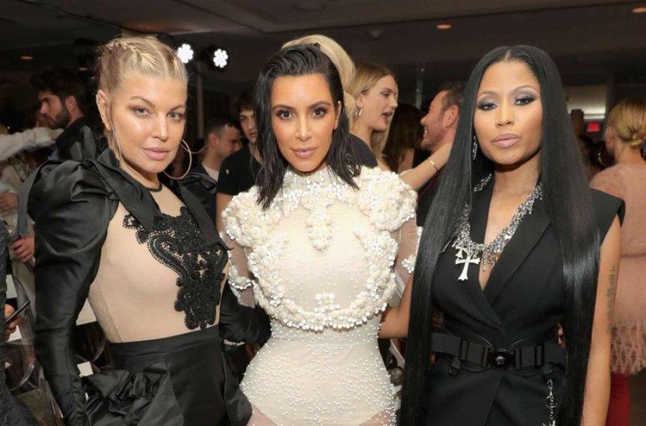Fergie, Kim Kardashian ir Nicki Minaj