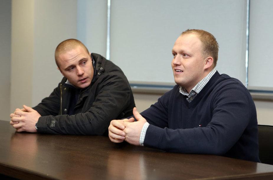 Modestas Kauzonas ir Emilis Burinskas