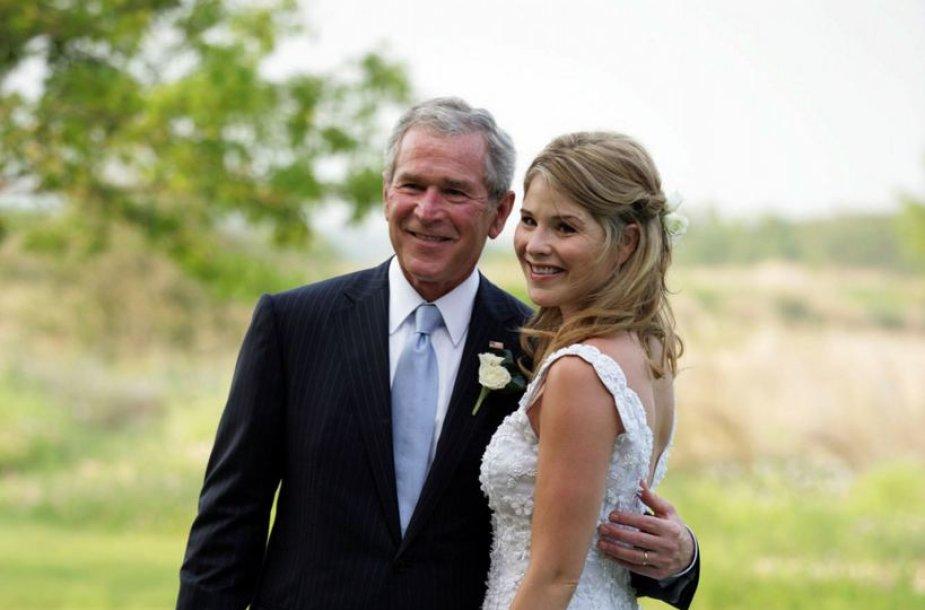 George'as Bushas ir dukra Jenna
