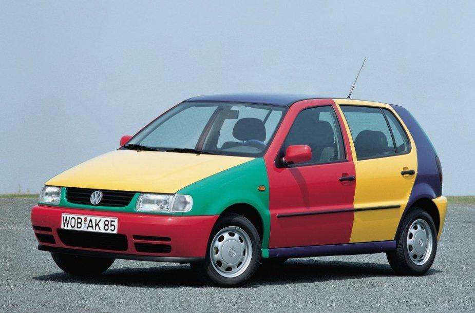 Polo Harlekin 1995 metais pasirodė kaip išimtinai parodoms skirtas automobilis. (Volkswagen nuotrauka)