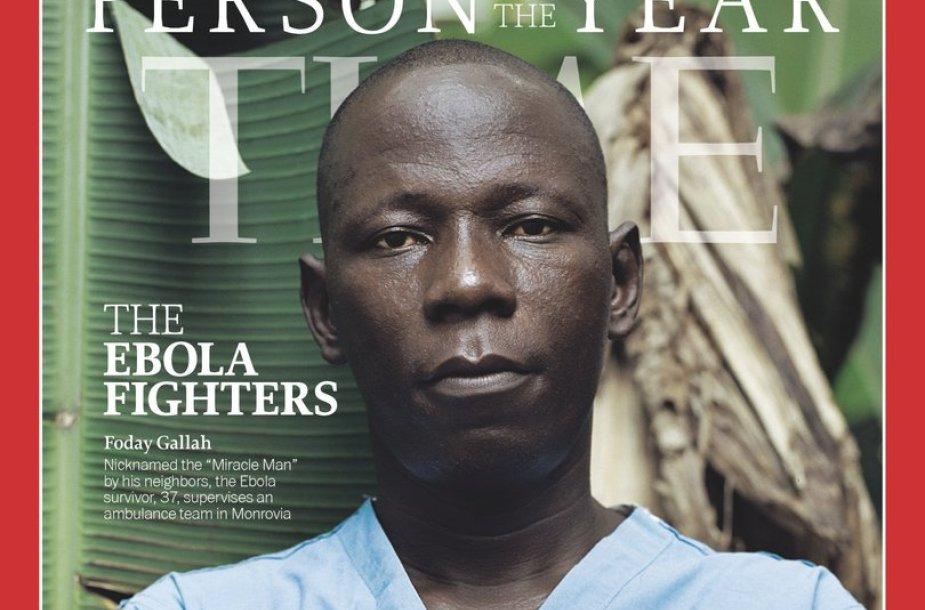 "Žurnalo ""Time"" viršelyje - medikai, kovojantys su Ebolos virusu"
