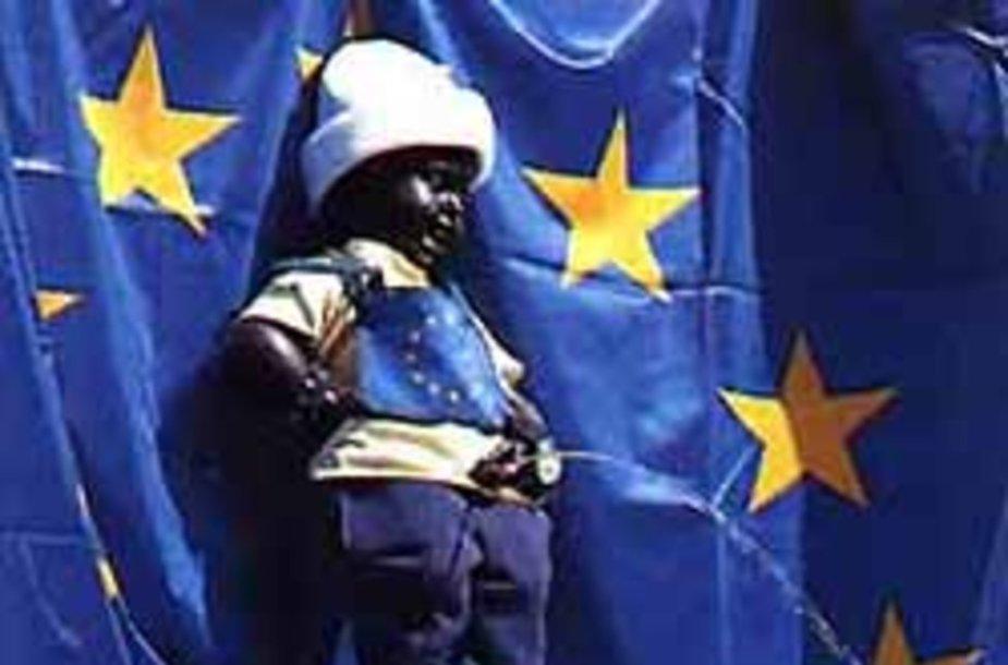 Символ Брюсселя в цветах ЕС.