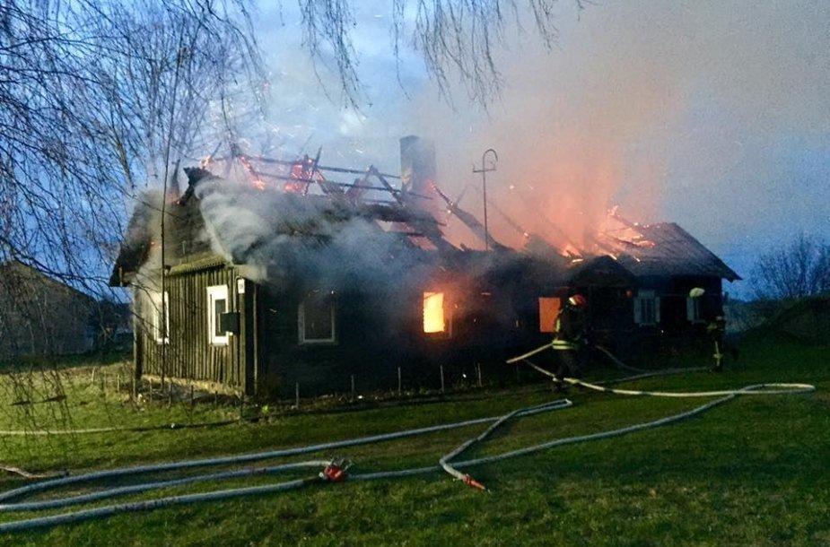 Namo gaisras Ukmergės rajone