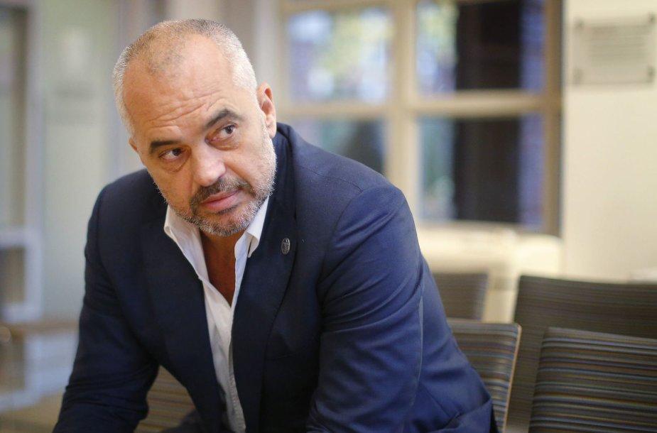 Albanijos premjeras Edi Rama
