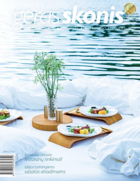 """Žurnalo """"Geras skonis"""" 2019 vasaros viršelis"""