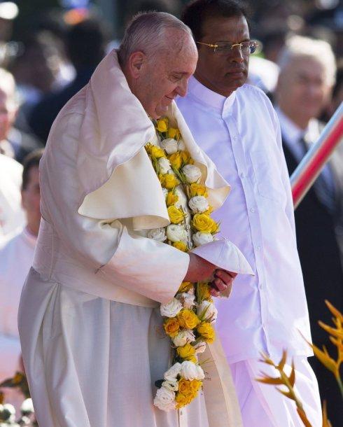 Popiežius Pranciškus Šri lankoje