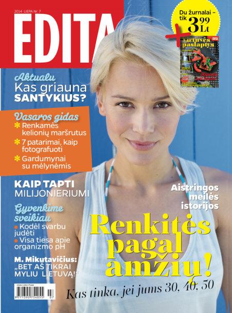 """Žurnalo """"Edita"""" liepos mėnesio viršelis"""