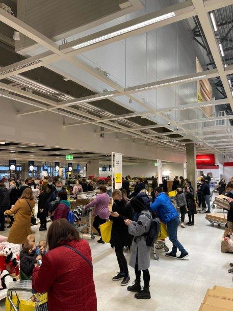Šeštadienis parduotuvėje IKEA