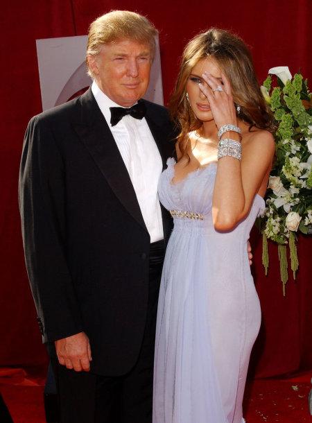Donaldas Trumpas ir Melania Trump 2005 metais