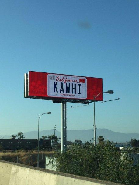 Kawhi Leonardas viliojamas stendais Los Andžele