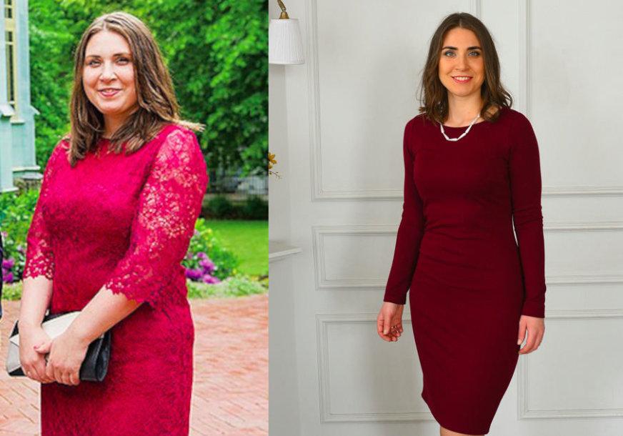 Jekaterina prieš ir po dietos