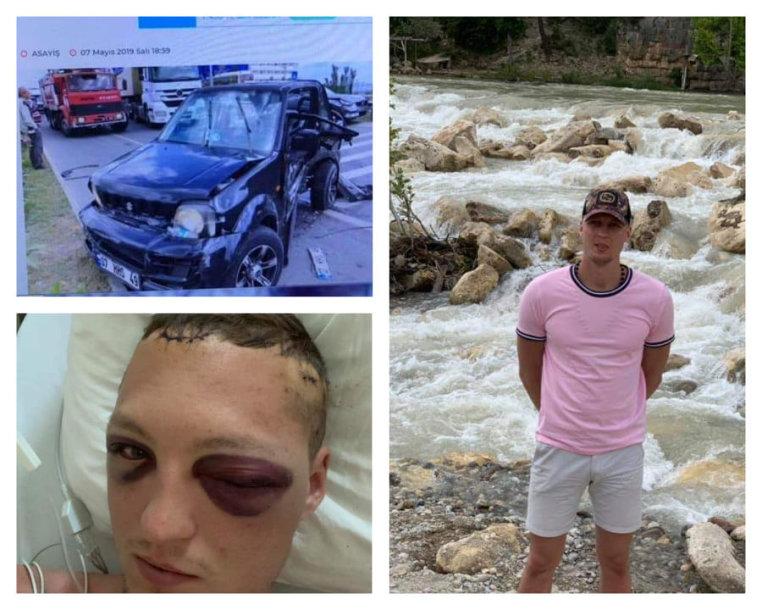Gabrielė ir Paulius Klevinskai Turkijoje pateko į avariją