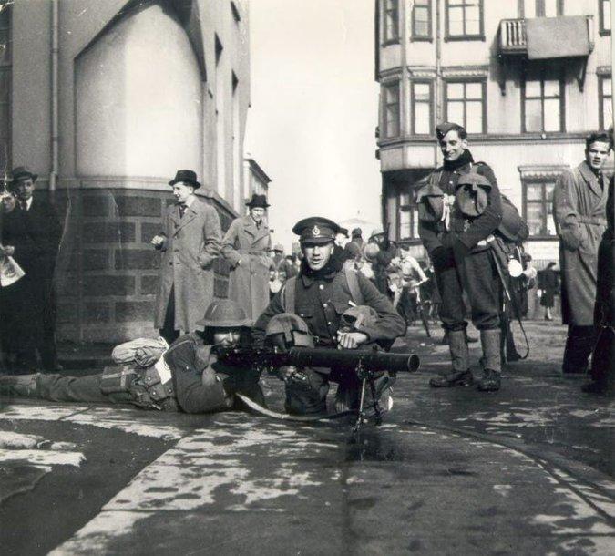Britų kariai Reikjavike Antrojo pasaulinio karo metu