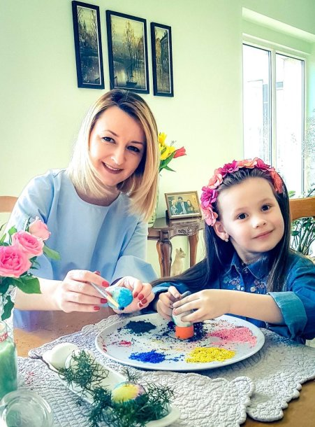 Viktorija Mauručaitė su dukra Angela