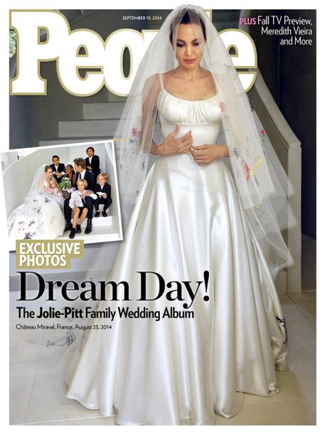 Angelina Jolie savo vestuvių dieną