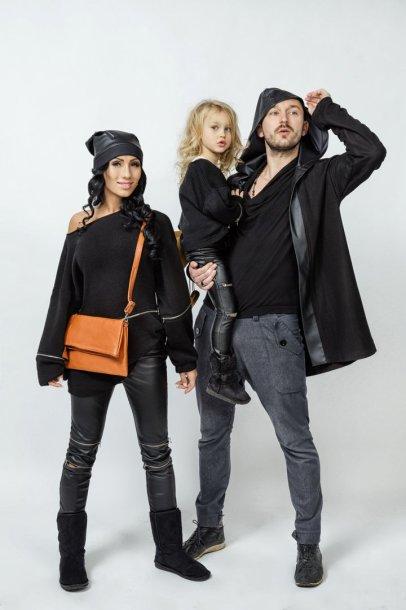 Greta Lebedeva ir Donatas Baumila su dukra Smilte