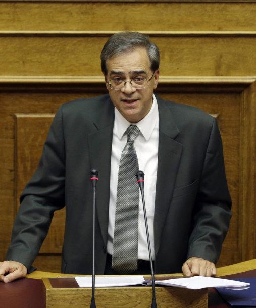 Graikijos finansų ministras Gikas Harduvelis