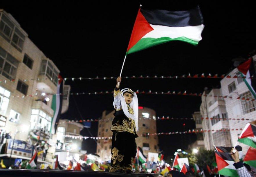 Palestina sprendimą sutiko itin džiaugsmingai.