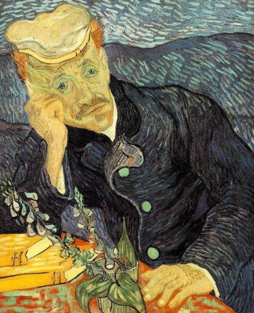 "Vincento van Gogho paveikslas ""Dr. Gachet portretas"""