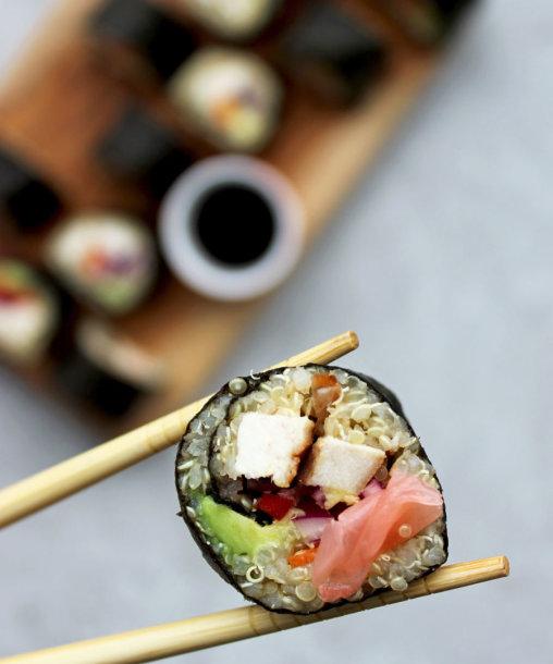 Suši su bolivinėmis balandomis ir vištiena