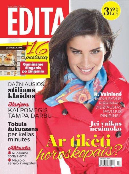 """Žurnalo """"Edita"""" spalio mėnesio viršelis"""