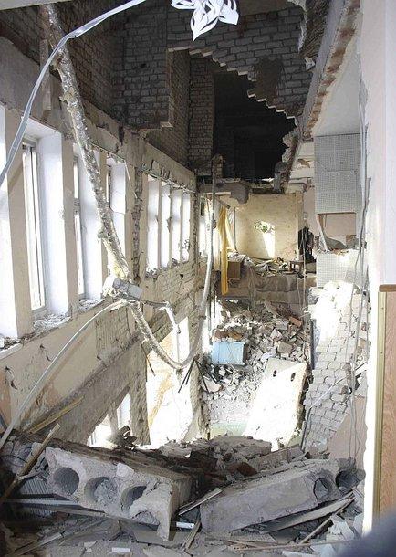 Mažiausiai penki žmonės žuvo per sprogimą Luhansko ligoninėje.