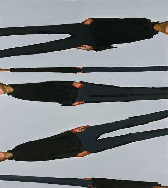 "Andrius Zakarauskas. ""Horizontalūs potėpiai"", dr. al., 190x180cm, 2009"