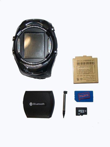 Šiukšlių dėžėje rastas elektroninis laikrodis su integruotu mobiliojo ryšio telefonu.