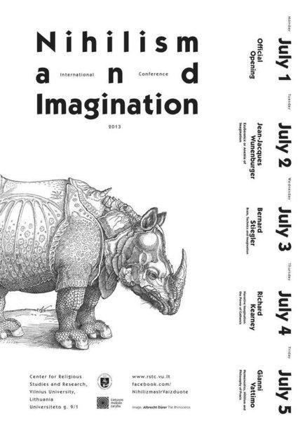 """Tarptautinė konferencija """"Nihilizmas ir vaizduotė"""""""