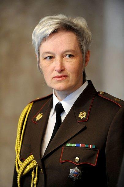 Akredituota Latvijos gynybos atašė Lietuvai majorė Inesė Kučerė