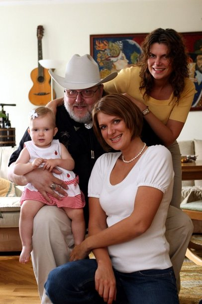 Virgis Stakėnas su šeima