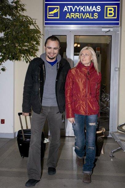 Foto naujienai: Eglė Jackaitė ir Karolis Malinauskas - pora!