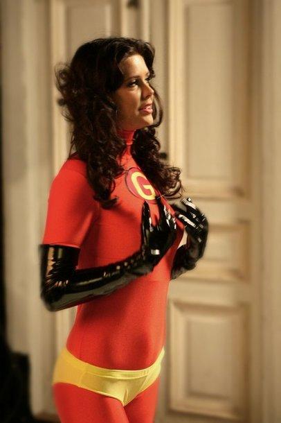 Foto naujienai: Giedrė Rusytė su supermeno kostiumu