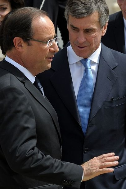 Francois Hollande'as ir Jerome'as Cahuzacas