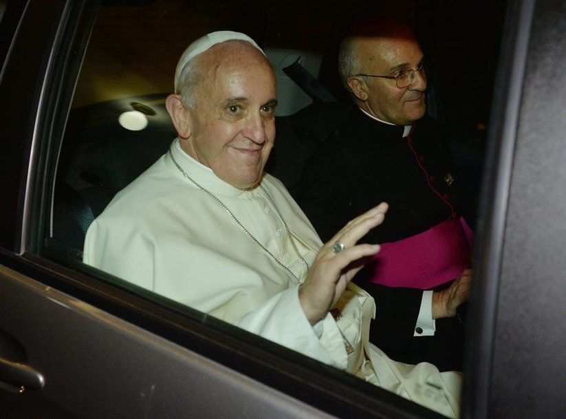 Popiežius Pranciškus atvyko į Braziliją.