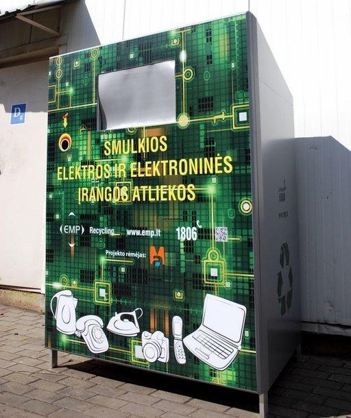 Elektroninės įrangos atliekų konteineris