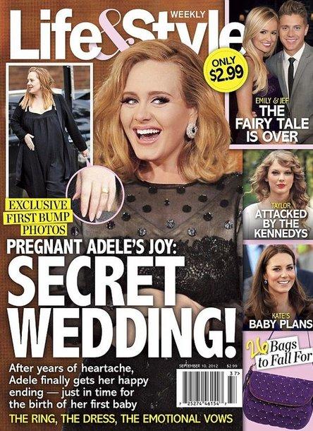 """Apie Adele vestuves pranešė """"Life & Style"""""""