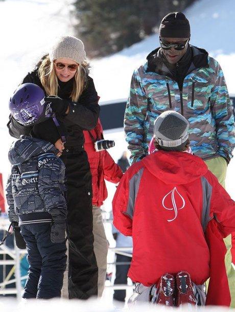 Heidi Klum ir Sealas su vaikais