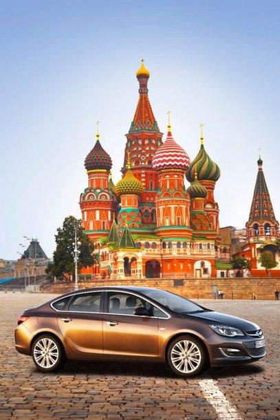 """Opel Astra Sedan"" Maskvoje"